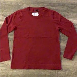 NWT J. Crew maroon Teddie sweater